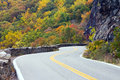 Windy Road To Colorful Fall Forest Royalty Free Stock Image - 40980756