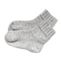 Gray Woolen Socks Isolated On White Stock Photos - 40981233