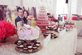 Beautifully Decorated Wedding Table With Sweets Stock Photos - 40984043