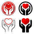 Red Heart In Hands Royalty Free Stock Photos - 40984858