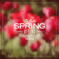 Spring Poster Royalty Free Stock Photos - 40985978