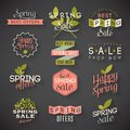 Spring Sale Labels Royalty Free Stock Image - 40986166