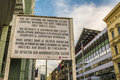 Check Point Charlie From World War II In Berlin Royalty Free Stock Image - 40987346
