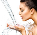 Beautiful Woman With Splashes Of Water Stock Images - 40988754