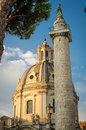 Column Of Trajan S Forum And Church Royalty Free Stock Photography - 40997597