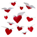 Flying Hearts Royalty Free Stock Photography - 411317