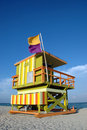 Green And Orange Art Deco Lifeguard Tower Royalty Free Stock Image - 4101826