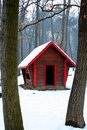 Log Cabin In Snow Woods Royalty Free Stock Photo - 4108505