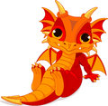 Cute Baby Dragon Royalty Free Stock Photography - 41002107