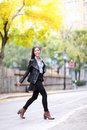 Fashion Urban Young Woman Living City Lifestyle Royalty Free Stock Photo - 41008375