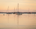 Sailboat Sunrise At Anchor Stock Photography - 41008682