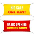 Two Suspended Textile Banners With Slogans Royalty Free Stock Image - 41011876