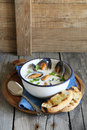 Mussel Soup Royalty Free Stock Images - 41020099