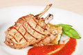 Grilled Veal Chop Stock Photo - 41023050