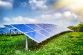 Landscape With Solar Energy Field Stock Images - 41023894