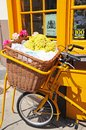 Bike With Wicker Basket, Stratford-upon-Avon. Royalty Free Stock Images - 41024579