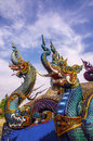 Two Naga Head Royalty Free Stock Images - 41026109