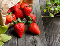 Strawberries On Wooden Table Royalty Free Stock Photos - 41035448