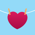Heart Clipped To String Stock Images - 41039224