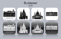 Icons Of Budapest Royalty Free Stock Photos - 41041108