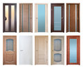Various Wooden Doors, Isolated Over White Royalty Free Stock Photo - 41046135
