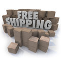 Free Shipping Cardboard Boxes Packages Orders Delivery Stock Images - 41046364