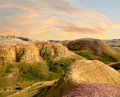 Sunset Badlands National Park South Dakota Stock Photography - 41047592