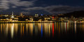 Wellington Harbour Lights Royalty Free Stock Images - 41049029