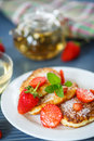 Curd Cheese Pancakes Fried Stock Photo - 41061290