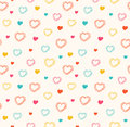 Cute  Seamless Pattern With Hearts Stock Photo - 41070750
