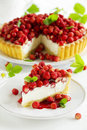 Tart With Forest Strawberries Royalty Free Stock Image - 41079956