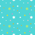 Seamless Pattern With Cartoon Star In Blue Background Royalty Free Stock Image - 41082336