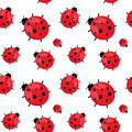 Seamless Pattern With  Ladybug Isolated On White. Stock Photos - 41082513