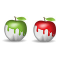 Half-painted Apple Stock Images - 41087234