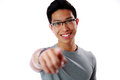 Young Man Pointing Finger At You Stock Photos - 41089913