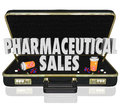 Pharmaceutical Sales Briefcase Medicine Samples Pills Capsules Royalty Free Stock Photos - 41092928
