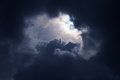 Dark Storm Cloud On Spring Day Stock Images - 41100954