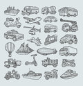 Transportation Icons Sketch Royalty Free Stock Image - 41105626