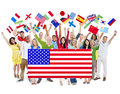 Group Of People Holding National Flags Royalty Free Stock Image - 41108616