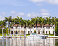 Luxury Houses At The Canal In Miami Stock Image - 41142941