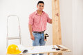 Young Contractor At Work At A House Royalty Free Stock Photo - 41159805