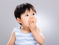 Sweet Baby Eating Cookie Royalty Free Stock Photos - 41196978