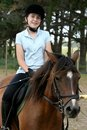Young Lady On Pony Royalty Free Stock Photography - 4120287