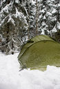 Tent In Snow Stock Images - 4121374