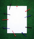 Golf Note With Pegs Stock Photo - 4122380