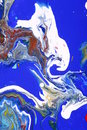 Abstract Blue White Paints  Stock Photography - 4123822