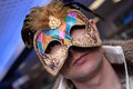 Man In The Carnival Mask Stock Image - 4125111