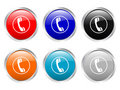 Glossy Buttons Phone Stock Image - 4128011