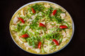 Appetizing Pizza With Meat Of Chicken Stock Photos - 41200873
