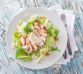 Caesar Salad With Chicken And Greens Royalty Free Stock Photography - 41206367